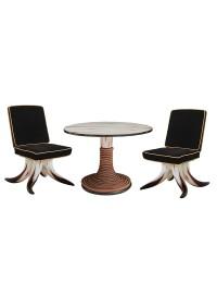Stierhornstühle und Stierhorntisch mit Seilen