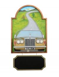 Bild mit Rolls Royce Gold und Angebotsschild