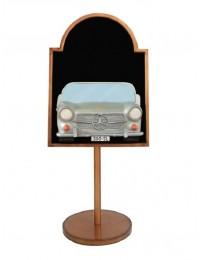 Angebotsschild mit Mercedes Benz Silber auf Ständer