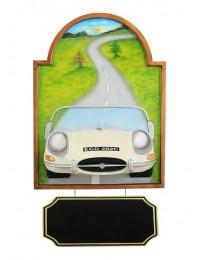 Bild mit Jaguar Weiß und Angebotsschild