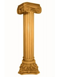 Säule mit Riffeln Gold groß