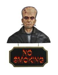 Monster Frankenstein Büste mit *No Smoking*Schild