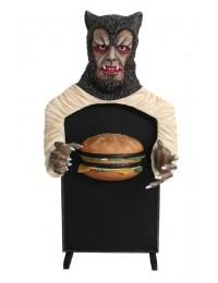 Werwolf Angebotstafel klein mit Burger