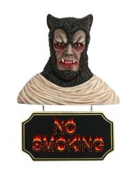 Werwolf Büste mit *No Smoking*Schild