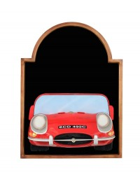Angebotstafel mit Jaguar Rot
