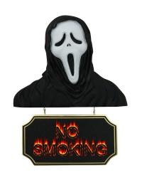 Monster Scream Büste mit *No Smoking*Schild