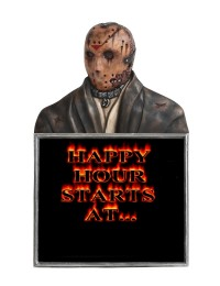Monster Jason Voorhees Büste Happy Hour Angebotstafel