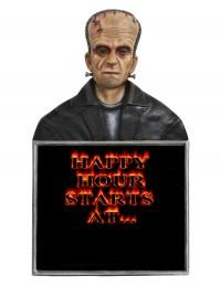 Monster Frankenstein Büste Happy Hour Angebotstafel