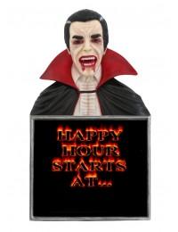 Dracula Büste Happy Hour Angebotstafel