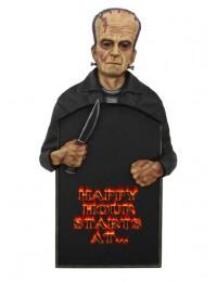 Monster Frankenstein Happy Hour Angebotstafel