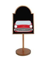 Angebotschild mit Chevy Rot auf Ständer