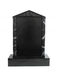 Grabstein mit schwarzem Marmoreffekt und Säulen 2