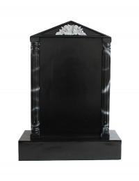 Grabstein mit schwarzem Marmoreffekt und Säulen 4