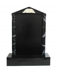 Grabstein mit schwarzem Marmoreffekt und Säulen 6