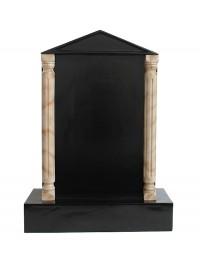 Grabstein mit schwarzem Marmoreffekt und Säulen 7