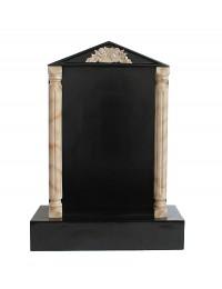 Grabstein mit schwarzem Marmoreffekt und Säulen 12