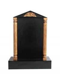 Grabstein mit schwarzem Marmoreffekt und Säulen 15