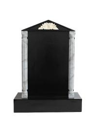 Grabstein mit schwarzem Marmoreffekt und Säulen 19