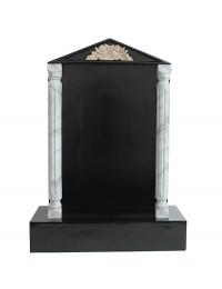 Grabstein mit schwarzem Marmoreffekt und Säulen 21