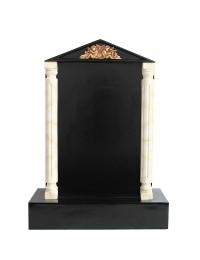 Grabstein mit schwarzem Marmoreffekt und Säulen 27