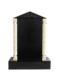 Grabstein mit schwarzem Marmoreffekt und Säulen 29