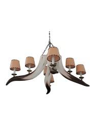 Stierhorn Kronleuchter mit 8 Lampen