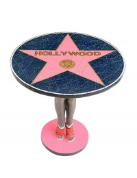 Hollywoodtisch mit Frauenbeine Ständer