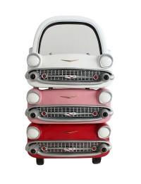 Spiegel Chevy Rot, Rosa und Weiß