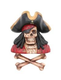 Piratenskelett mit Knochen Wanddeko