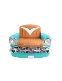 Sitz Chevy Front Hellblau mit braunem Polster