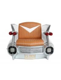 Sitz Caddilac Weiß mit braunem Polster