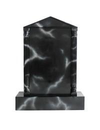 Grabstein mit schwarzem Marmoreffekt 2