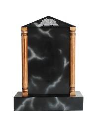 Grabstein mit schwarzem Marmoreffekt 9
