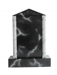 Grabstein mit schwarzem Marmoreffekt 14