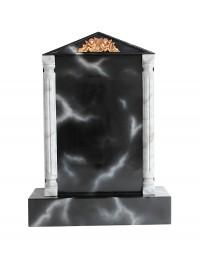 Grabstein mit schwarzem Marmoreffekt 16