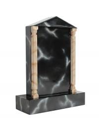 Grabstein mit schwarzem Marmoreffekt 19
