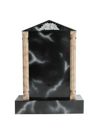 Grabstein mit schwarzem Marmoreffekt 22