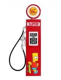 Retro Zapfsäule Rot mit Bart Simpson als Wanddeko groß