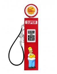 Retro Zapfsäule Rot mit Homer Simpson als Wanddeko groß