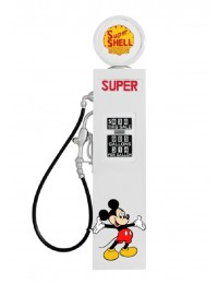 Retro Zapfsäule Weiß mit Mickey Mouse als Wanddeko groß
