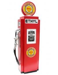 Retro Tankstelle Rot als Schrank groß