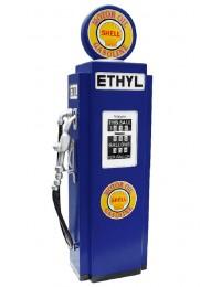 Retro Tankstelle Blau als Schrank groß