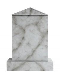 Grabstein mit grauem Marmoreffekt 1