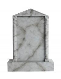 Grabstein mit grauem Marmoreffekt 2
