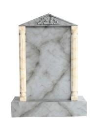 Grabstein mit grauem Marmoreffekt 12