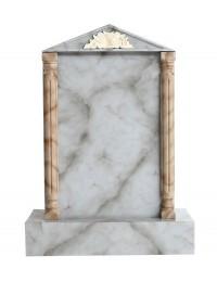 Grabstein mit grauem Marmoreffekt 15