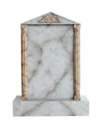 Grabstein mit grauem Marmoreffekt 16
