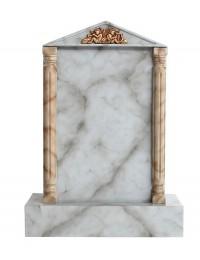 Grabstein mit grauem Marmoreffekt 18