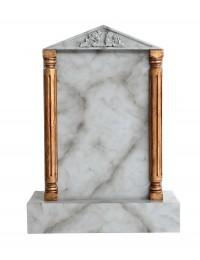 Grabstein mit grauem Marmoreffekt 23