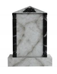 Grabstein mit grauem Marmoreffekt 31